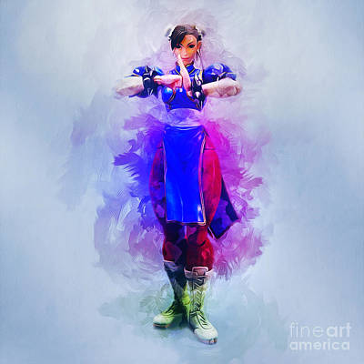 Painting - Chun Li by Ian Mitchell