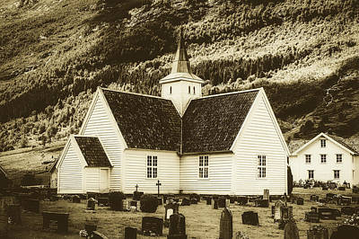 Photograph - Church And Cemetery - Olden, Norway by Unsplash