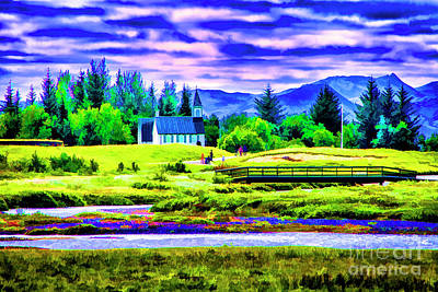 Photograph - Church By The River by Rick Bragan