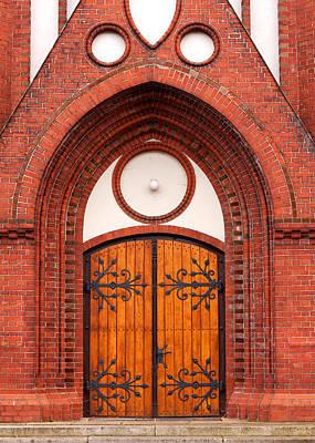 Church Entrance Print by Boyan Dimitrov