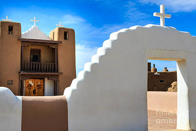Photograph - Church In Taos Pueblo by Richard Smith
