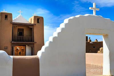 Photograph - Church In Taos Pueblo by Richard Smith