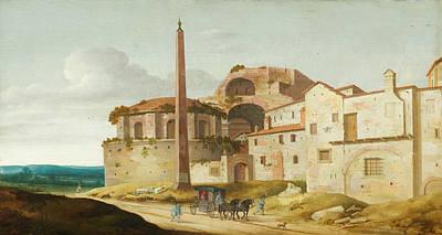 Streetscape Painting - Church Of Santa Maria Della Febbre, Rome by Pieter Jansz Saenredam