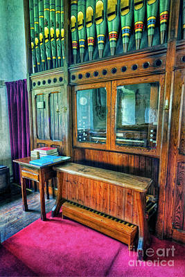 Photograph - Church Organ by Ian Mitchell