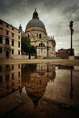 Photograph -  Church Santa Maria Della Salute Amd Street View by Songquan Deng