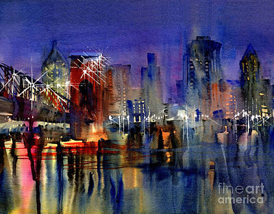 Painting - Cincinnati Lights by John Byram
