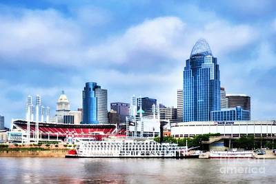 Steamboat Photograph - Cincinnati On The Ohio River # 2 by Mel Steinhauer