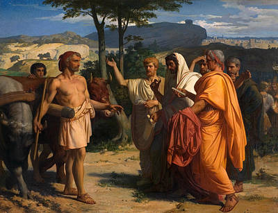 Painting - Cincinnatus Receiving Deputies Of The Senate by Alexandre Cabanel