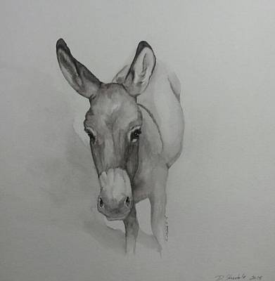 Cindy The Donkey Original by Dianne Shoenfelt