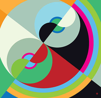 Painting - Circle Abstract by Gary Grayson