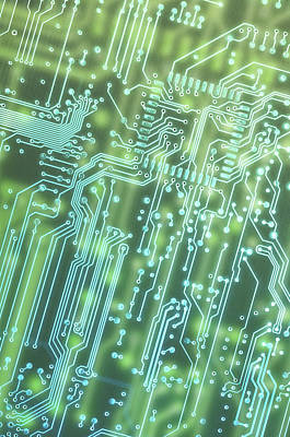 Processor Photograph - Circuit Board by Carlos Caetano