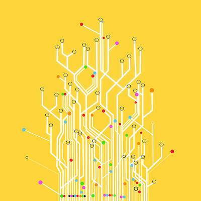 Circuit Board Graphic Art Print by Setsiri Silapasuwanchai