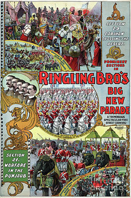 Drawing - Circus, Parade, 1899.  by Granger