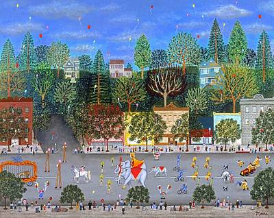 Clown Painting - Circus Parade Two by Linda Mears
