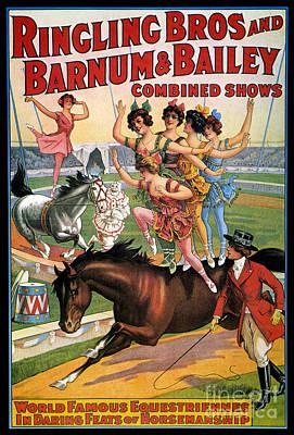 Circus Poster, 1920s Art Print