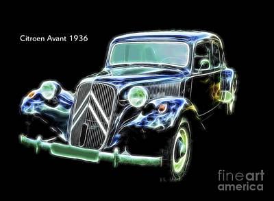Citroen Digital Art - Citroen Avant 1936 by Jim Kayalar