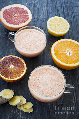 Grapefruit Photograph - Citrus Smoothies by Elena Elisseeva