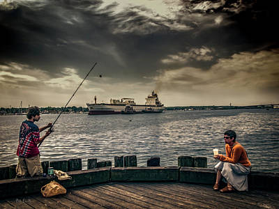 Photograph - City Fishing by Bob Orsillo