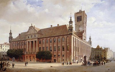 Painting - City Hall At Thorn by Eduard Gaertner