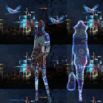 Digital Art - City Lights by Ericamaxine Price