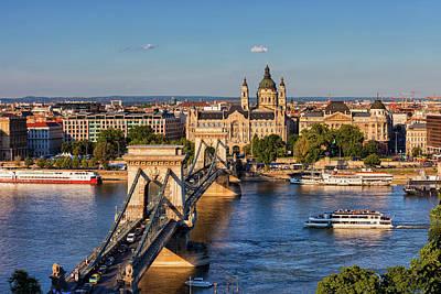 Photograph - City Of Budapest Sunset Cityscape by Artur Bogacki
