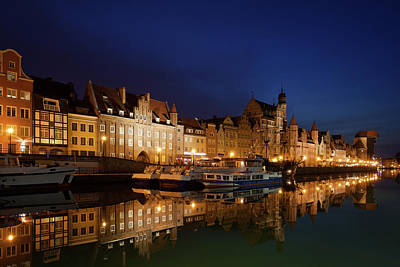 Photograph - City Of Gdansk Old Town Skyline At Night by Artur Bogacki