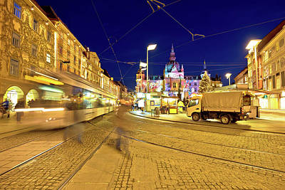 Photograph - City Of Graz Hauptplatz Main Square Market View by Brch Photography