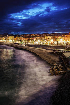 Photograph - City Of Nice In France At Dusk by Artur Bogacki