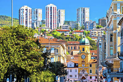 Photograph - City Of Rijeka Architecture View by Brch Photography