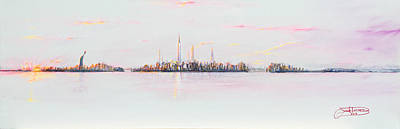 Painting - City Sunset by Jack Diamond