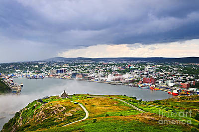 Cityscape Of Saint John's From Signal Hill Art Print