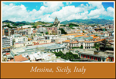 Photograph - Cityscape, Town Of Messina, Sicily, Italy by A Gurmankin