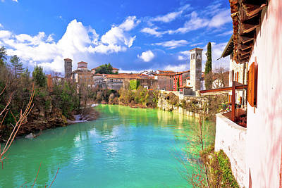 Photograph - Cividale Del Friuli On Cliffs Of Natisone River Canyon View by Brch Photography