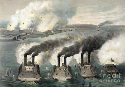 Drawing - Civil War, Fort Henry, 1862.  by Granger