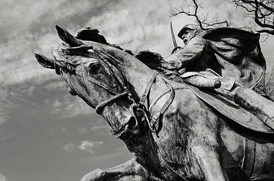 Patriotic Bronze Photograph - Civil War Memorial by Brandon Bourdages