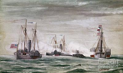 Civil War: Naval Battle Art Print by Granger