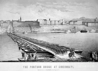 Civil War: Pontoon Bridge Art Print by Granger