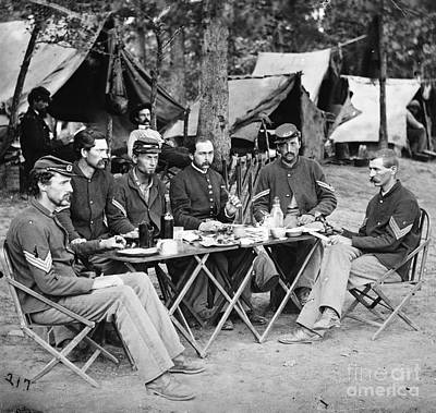 Photograph - Civil War: Union Officers by Granger