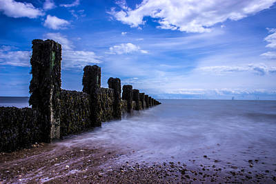 Windy Photograph - Clacton Beach by Martin Newman