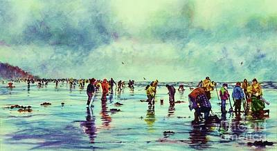 Painting - Clamdiggers Beachscape by Cynthia Pride
