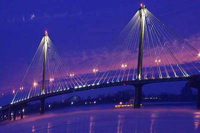 Photograph - Clark Bridge Sunrise by David Coblitz