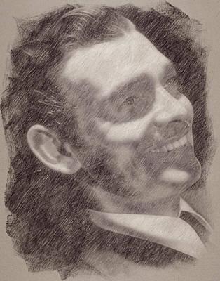 Celebrities Paintings - Clark Gable by Esoterica Art Agency