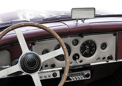 Cockpit Photograph - Classic Car by Carlos Caetano