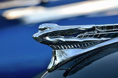 Photograph - Classic Car Hood Ornament by Dean Ferreira