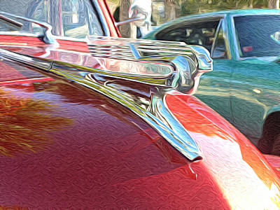 Classic Cars - 1941 Chevy Special Deluxe Business Coupe - Flying Lady Hood Ornament Art Print