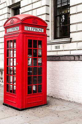Photograph - Classic Red London Telephone Box by John Williams
