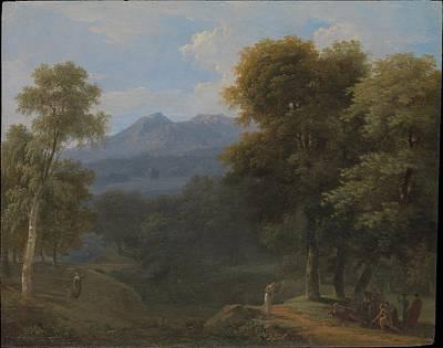 Classical Landscape With Figures Original