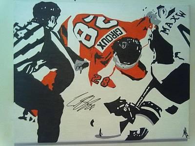 Claude Giroux Painting - Claude Giroux  by Joseph B Miller