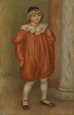 Painting - Claude Renoir In Clown Costume by Auguste Renoir