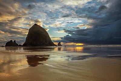 Photograph - Clearing Skies At Cannon Beach by Andrew Soundarajan